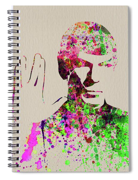 Legendary Spock Watercolor Spiral Notebook