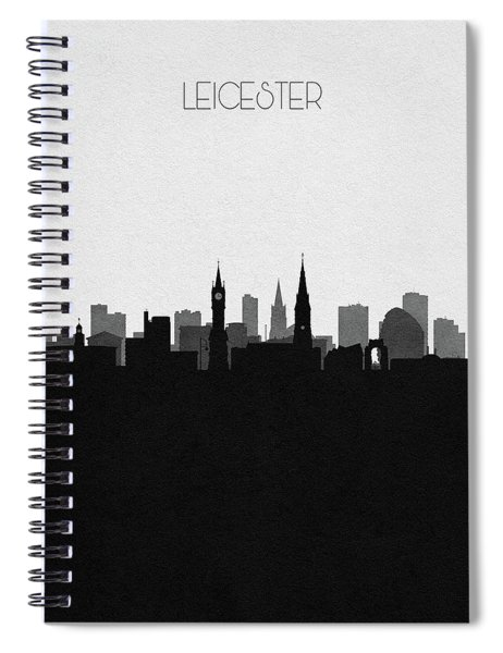 Leicester Cityscape Art Spiral Notebook
