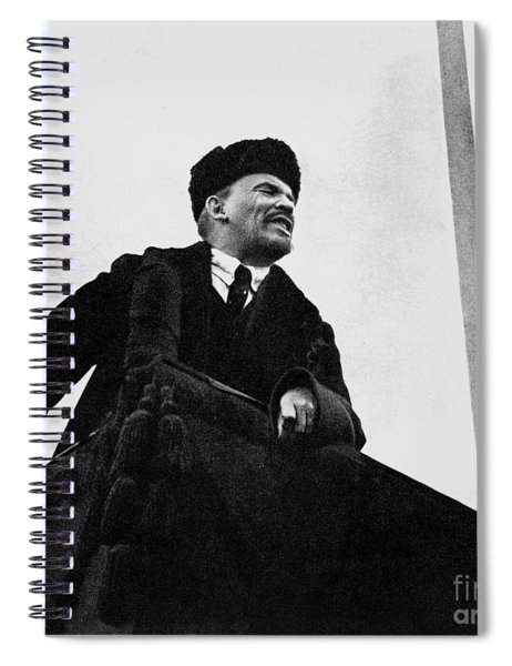 Lenin, During A Speech In Red Square On The 1st Anniversary Of The October Revolution Spiral Notebook