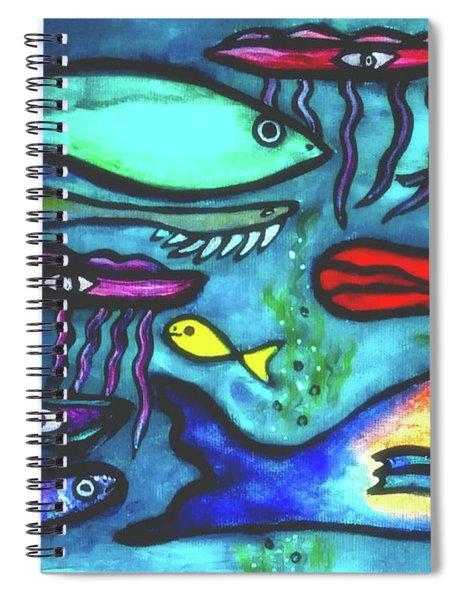 Leo Swims Against The Stream  Go Leo Go  Spiral Notebook