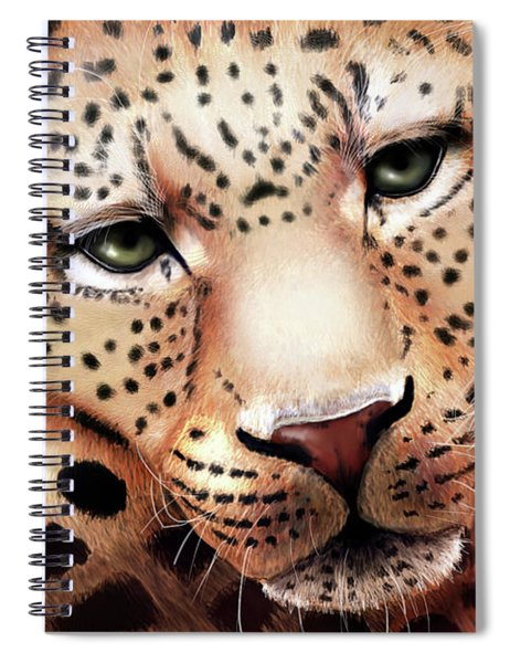 Leopard Resting Spiral Notebook