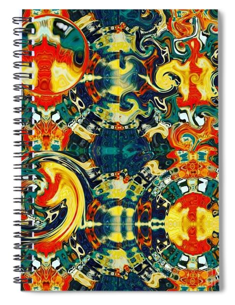 Spiral Notebook featuring the digital art Les Quatre Elements by A zakaria Mami