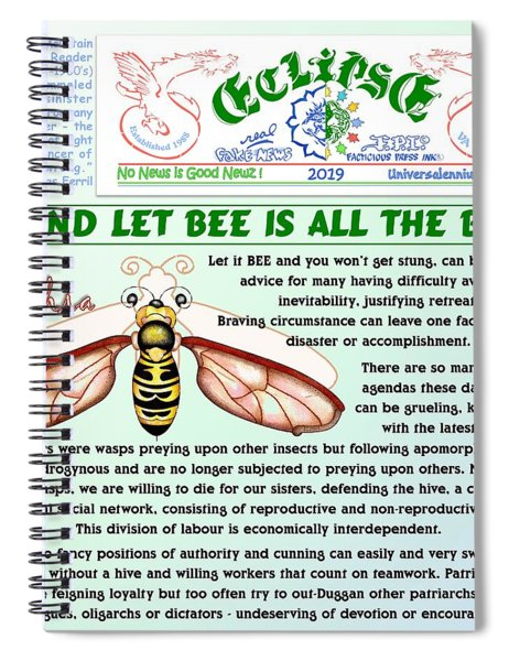 Let It Bee Spiral Notebook