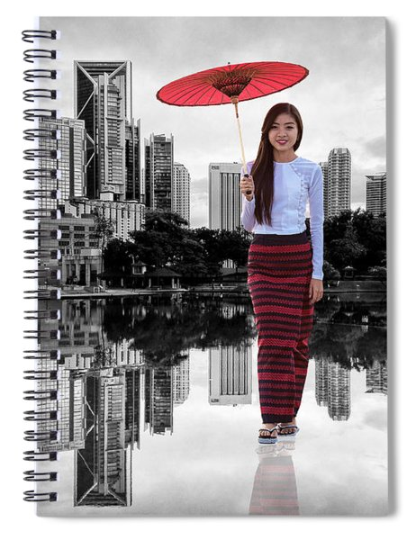 Spiral Notebook featuring the digital art Let The City Be Your Stage by ISAW Company