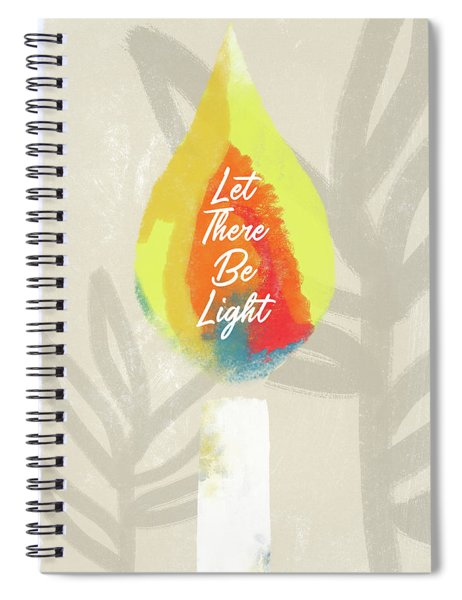 Let There Be Light Candle- Art By Linda Woods Spiral Notebook