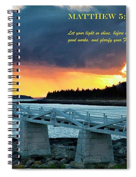 Let Your Light So Shine Spiral Notebook