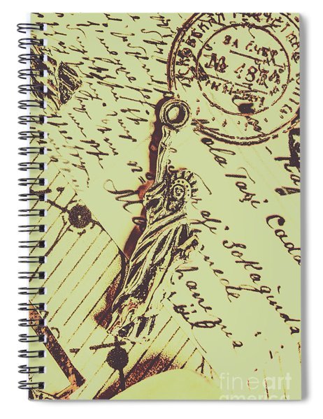 Letters Of Liberty Spiral Notebook