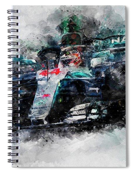 Lewis Hamilton, Mercedes Amg F1 W09 - 10 Spiral Notebook