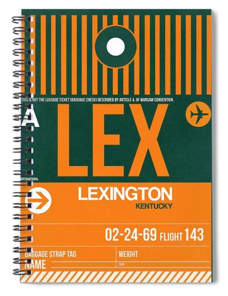 Lex Lexington Luggage Tag II Spiral Notebook