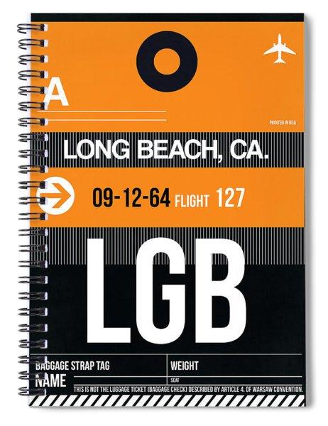 Lgb Long Beach Luggage Tag II Spiral Notebook