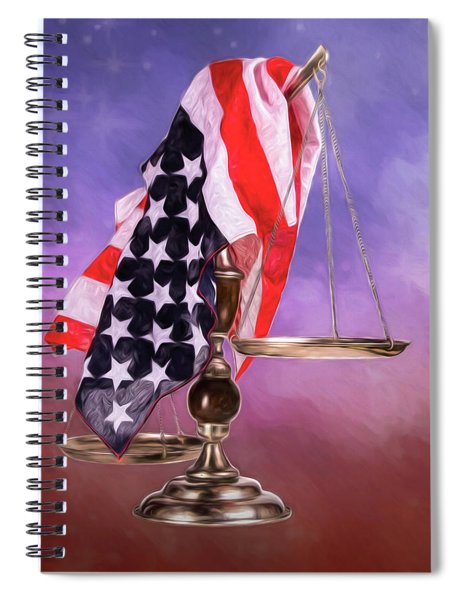 Liberty And Justice For All Spiral Notebook