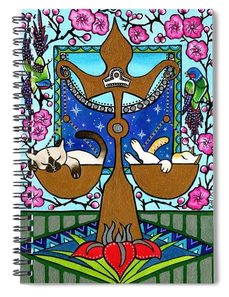 Libra Cat Zodiac Spiral Notebook