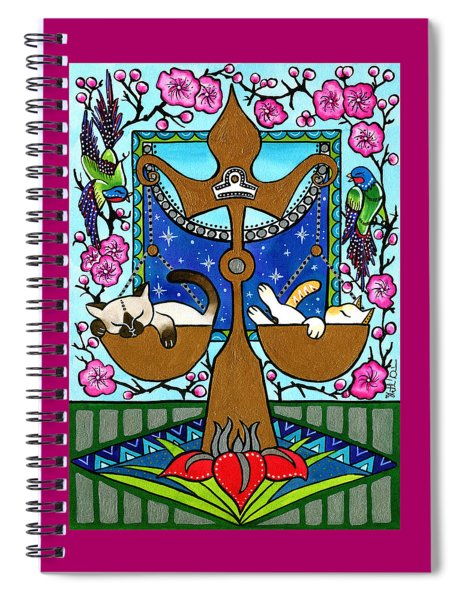 Libra Cat Zodiac Spiral Notebook