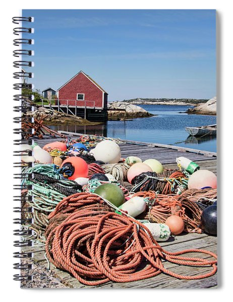 Life Of A Fisherman In Peggy's Cove Spiral Notebook