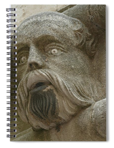 Life Sized Sculptures Of Human Heads Spiral Notebook