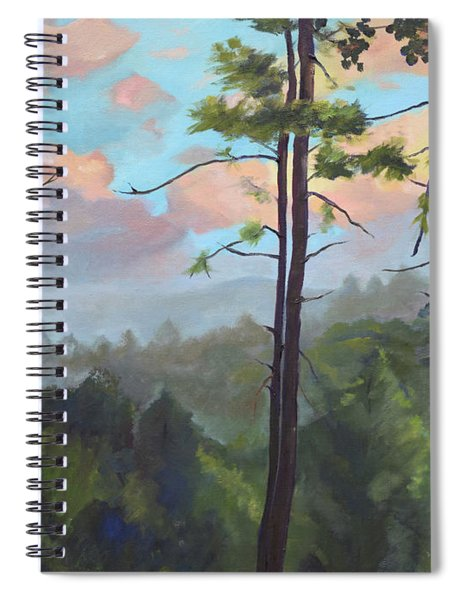 Lifting My Soul At Pink Knob - In Elliay Spiral Notebook by Jan Dappen