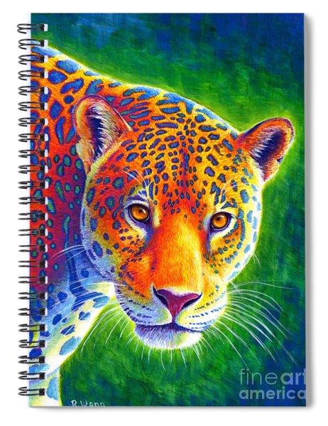 Light In The Rainforest - Jaguar Spiral Notebook