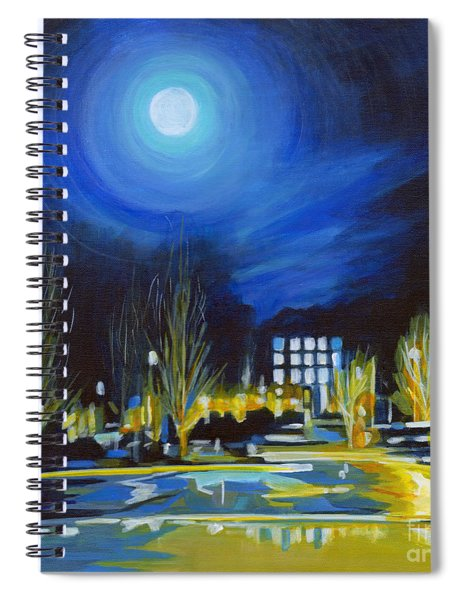 Light Side Of The Moon Spiral Notebook