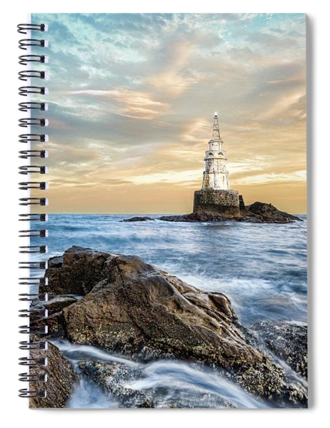 Lighthouse In Ahtopol, Bulgaria Spiral Notebook
