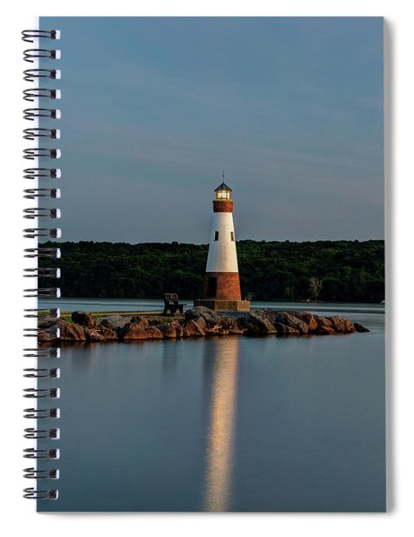 Lighthouse Reflection Spiral Notebook by Rod Best