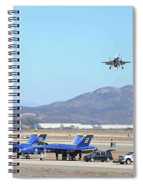 Lightning Above Spiral Notebook
