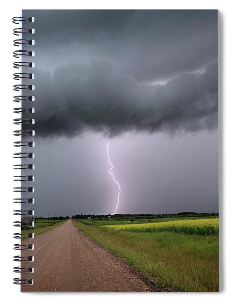 Lightning On The Way Home Spiral Notebook