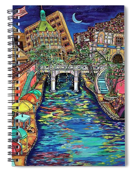 Lights On The Banks Of The River Spiral Notebook