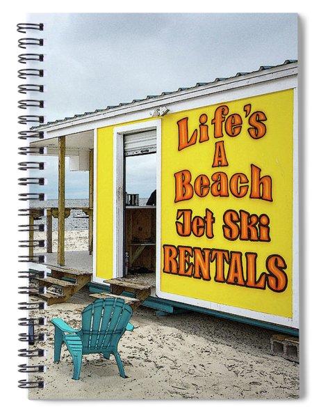 Like's A Beach Spiral Notebook