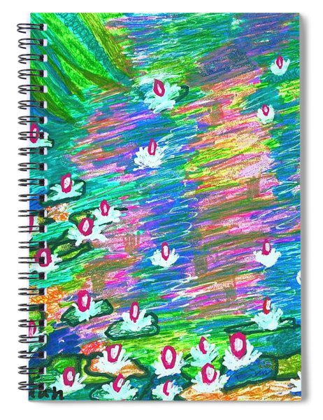 Lilies Of The Pond Spiral Notebook