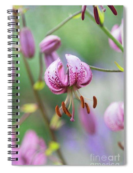 Lilium Martagon Flower Spiral Notebook