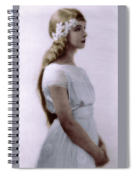 Lillian Gish Colorized Spiral Notebook