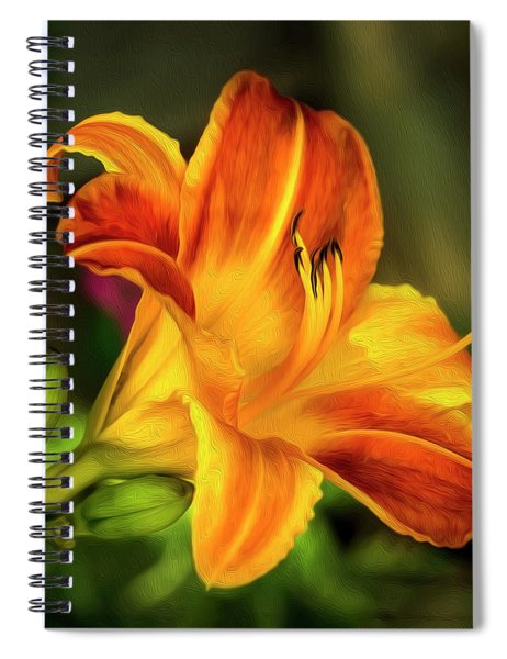 Lily Of The Day Spiral Notebook
