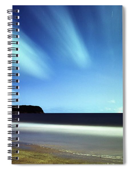 Linear Clouds Over Mayaro Spiral Notebook