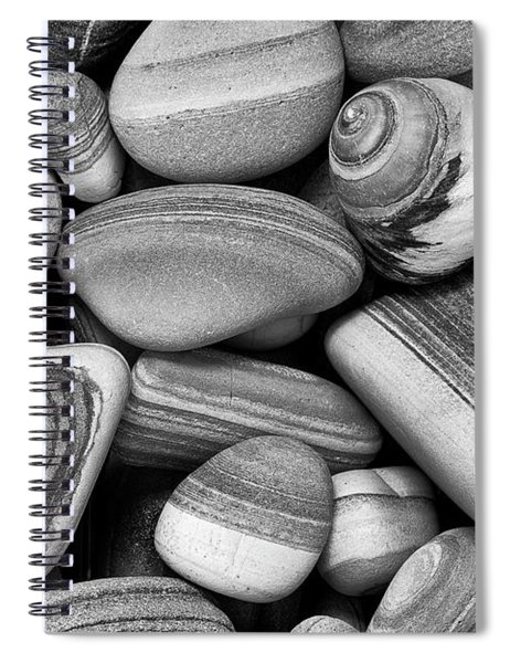 Lined Rocks And Shell Spiral Notebook