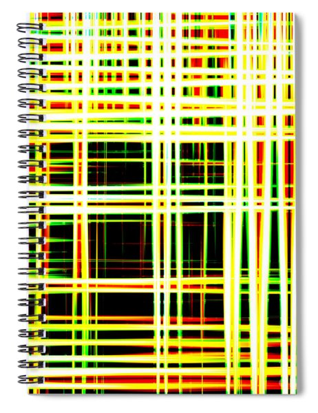 Lines And Squares In Color Waves - Plb418 Spiral Notebook