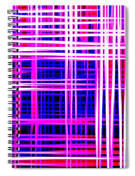 lines and squares in purple Color Waves - PL414 Spiral Notebook