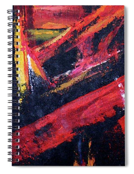 Lines Of Fire Spiral Notebook