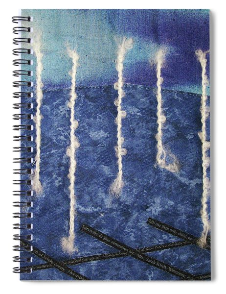 Lines Of Text Spiral Notebook