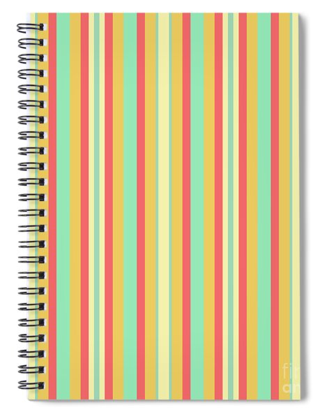 Lines Or Stripes Vintage Or Retro Color Background - Dde589 Spiral Notebook