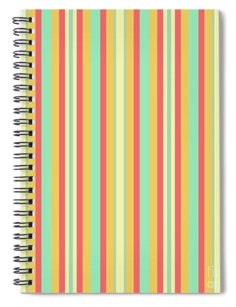 Lines Or Stripes Vintage Or Retro Color Background - Dde589 Spiral Notebook