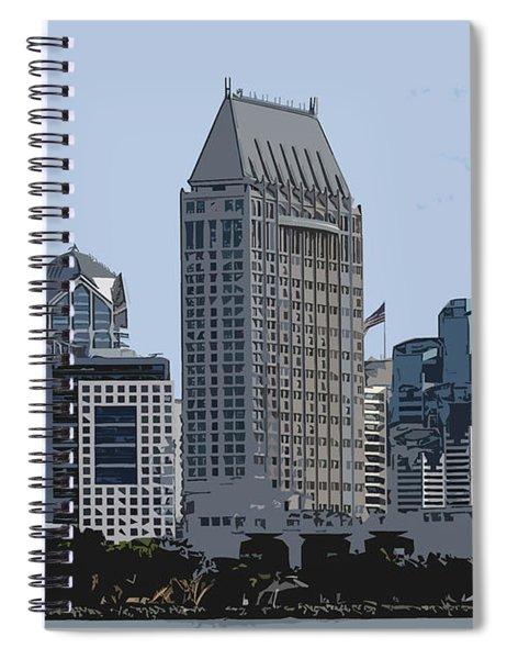 Lining San Diego Bay Spiral Notebook
