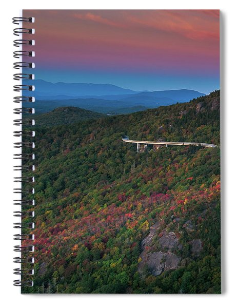 Linn Cove Pink And Blue Spiral Notebook