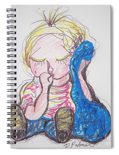 Linus And Blanky After Charles Shultz Spiral Notebook