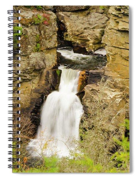 Linville Falls - Closeup Spiral Notebook