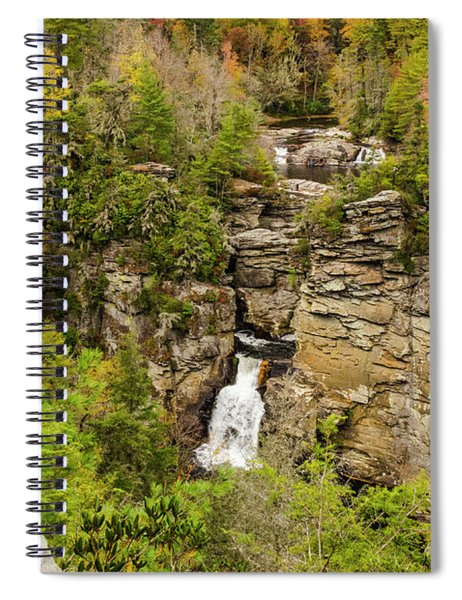 Linville Falls - Wide View Spiral Notebook