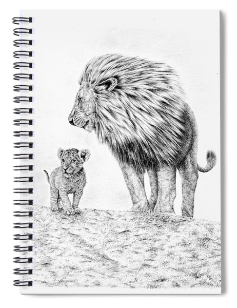 Lion And Cub Spiral Notebook