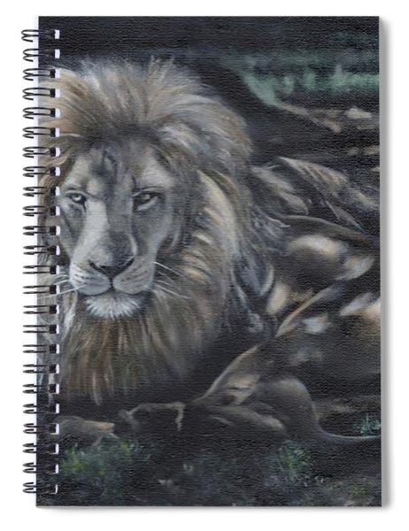 Lion In Dappled Shade Spiral Notebook