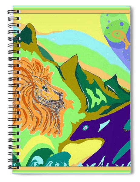 Lion In The Mountain Spiral Notebook