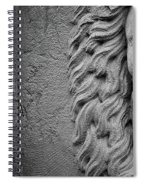 Lion Statue Portrait Spiral Notebook