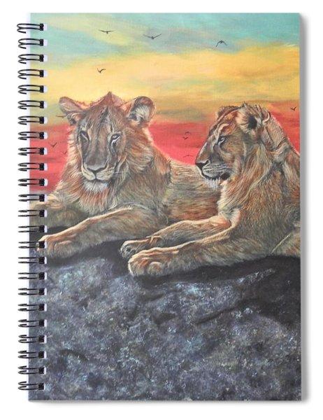 Lion Sunset Spiral Notebook